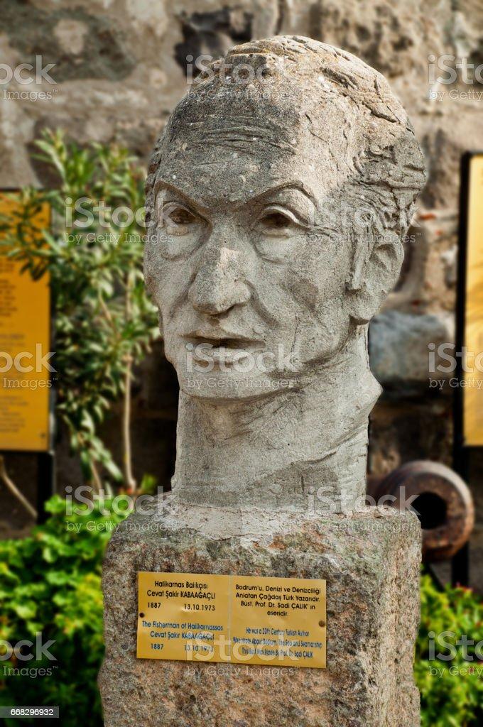 Bodrum Kalesi Cevar Şakir heykel stok fotoğrafı