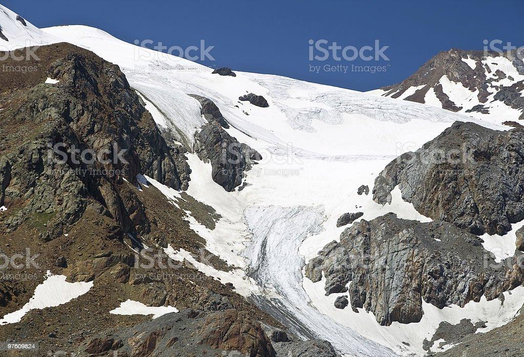 Cevedale glacier, Italy royalty-free stock photo