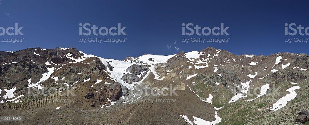 Cevedale mountain panorama royalty-free stock photo