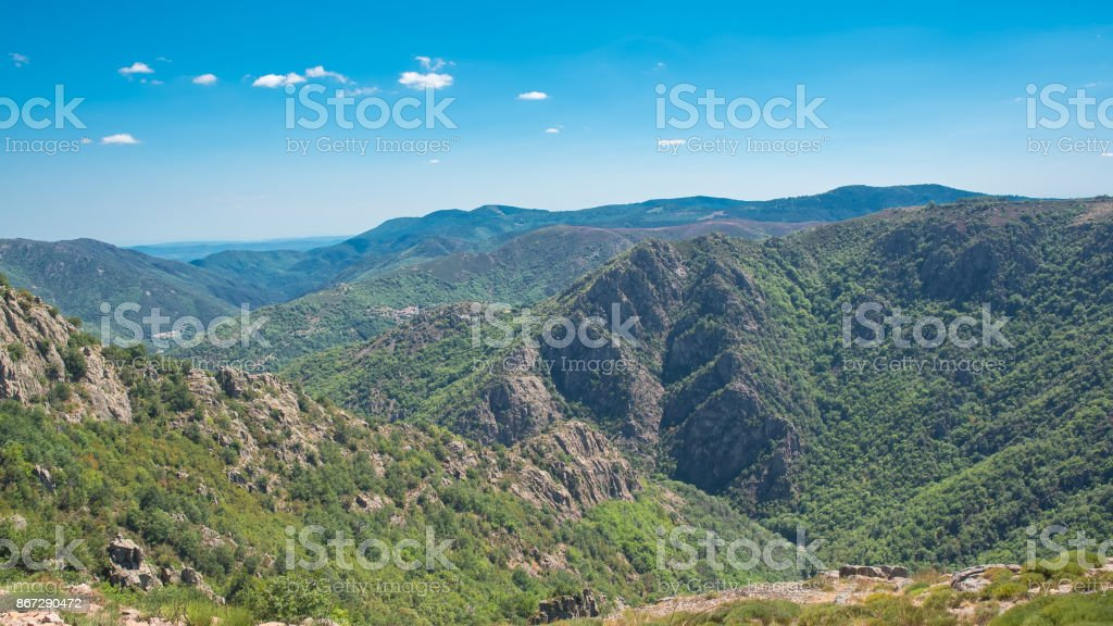 Cevennes in France, beautiful panorama stock photo