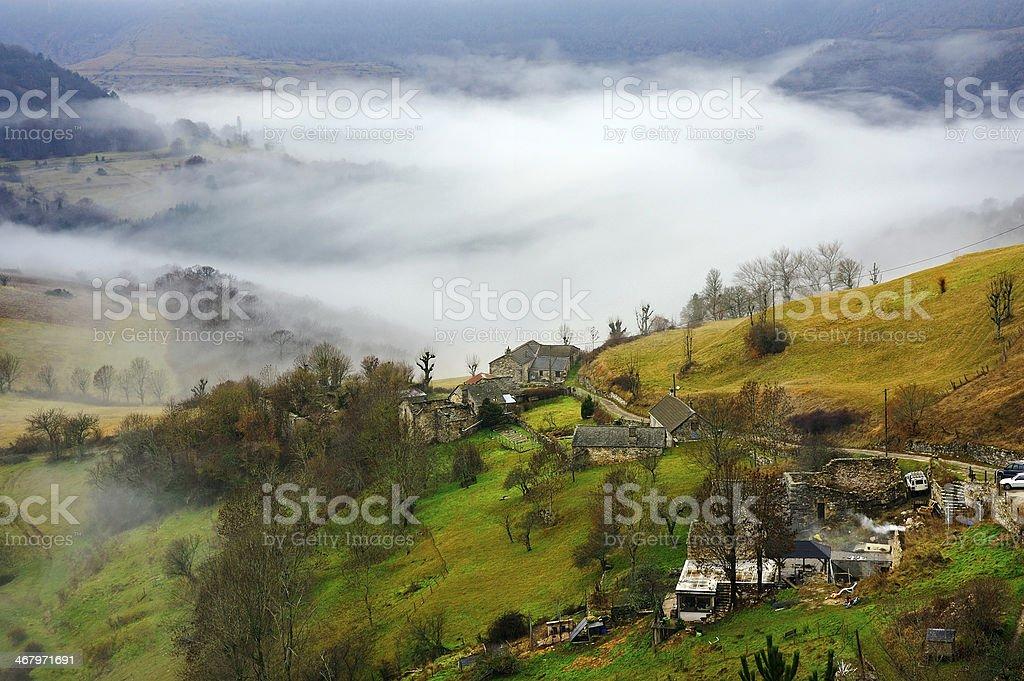 Cevennes mountain range stock photo