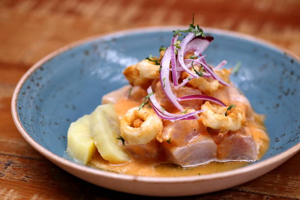 Ceviche 2 Ceviche, classic Peruvian cuisine dish peruvian culture stock pictures, royalty-free photos & images