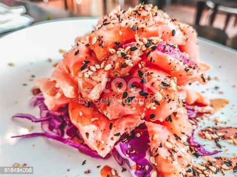 ceviche onion cabbage purple spices