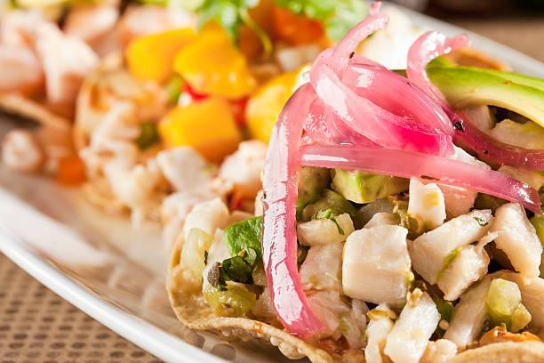 Ceviche Tostada - foto de stock