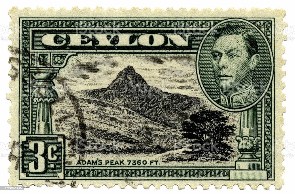Ceylon Postage Stamp royalty-free stock photo