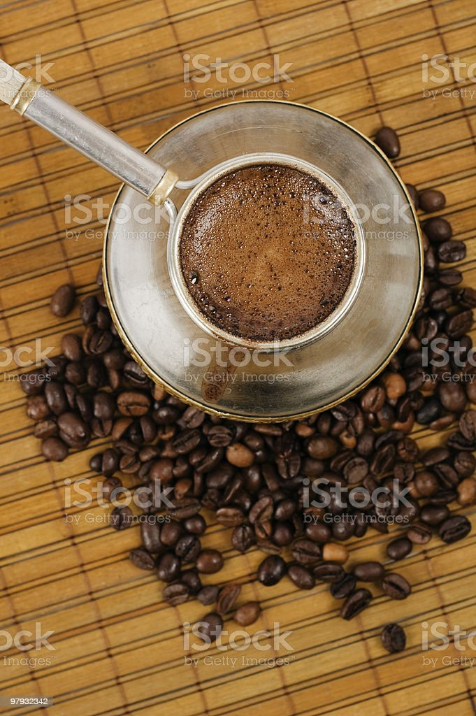 Cezve with coffee royalty-free stock photo