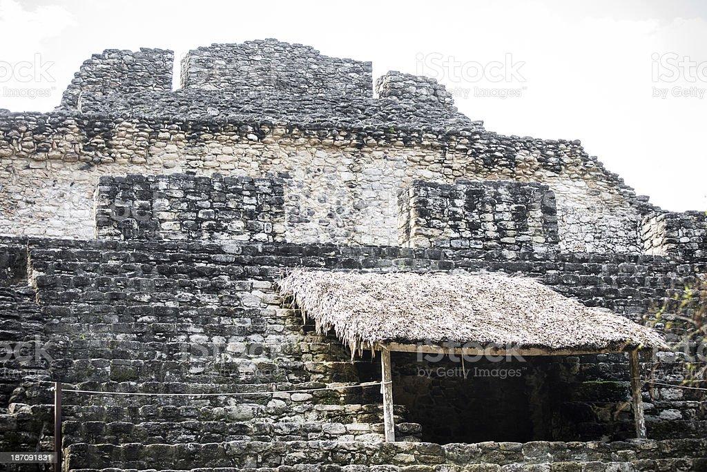Chacchoben Pyramid royalty-free stock photo