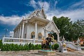 istock Chachoengsao / Thailand / September 4, 2020 : Wat Khlong Chao, With a large Buddha image The name of Luang Pho Thanjai. 1291963240