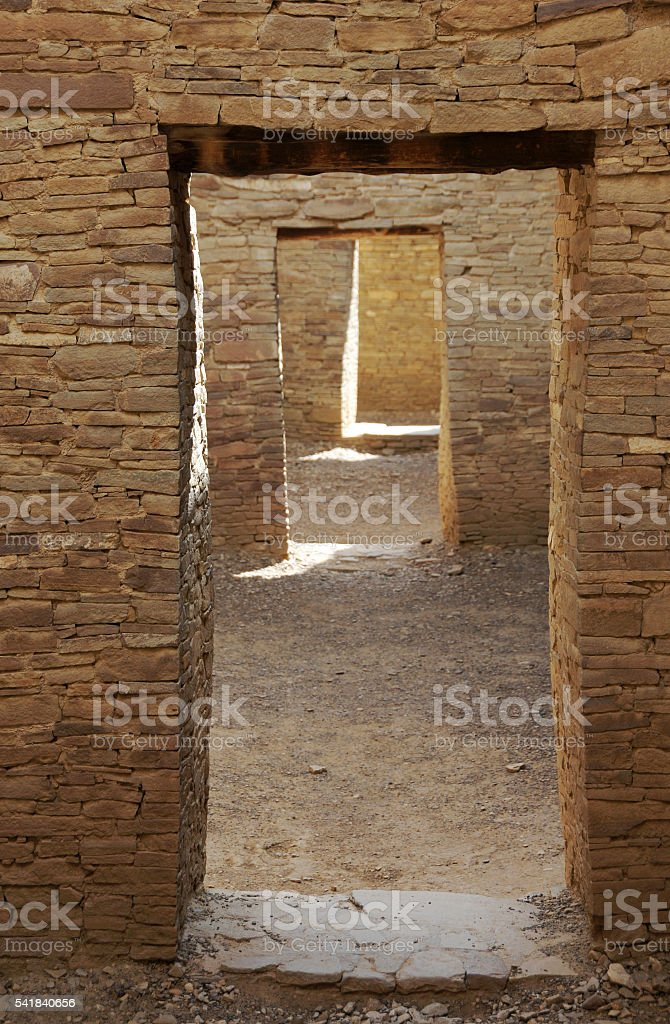 Chaco Canyon Doorway Stock Photo - Download Image Now - iStock