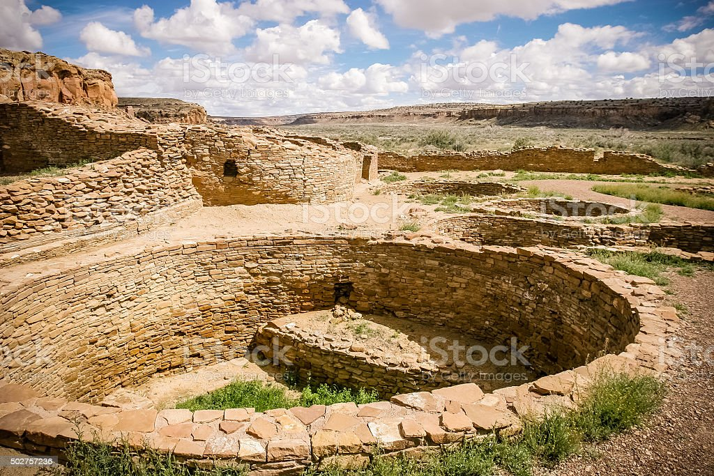 Chaco Culture National Historic Park stock photo
