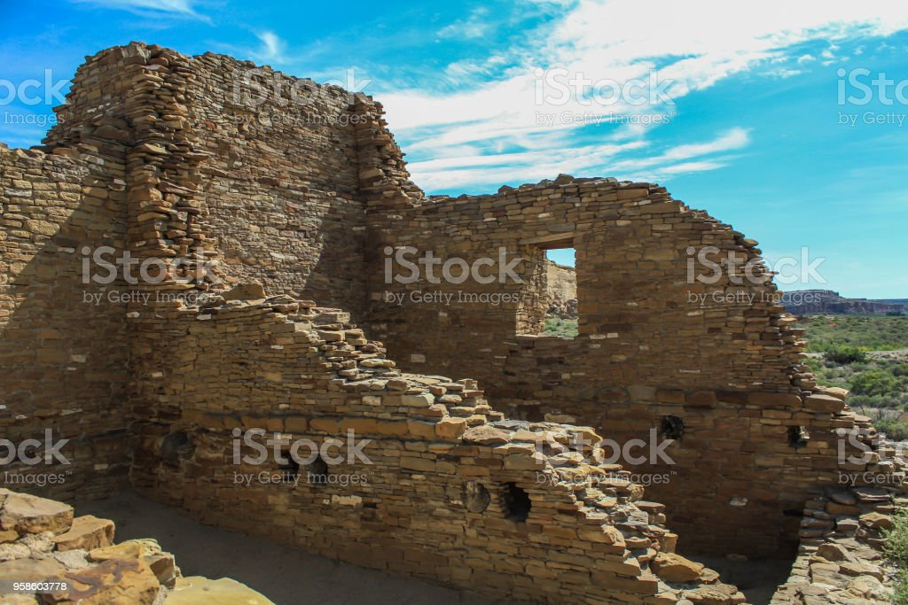 Chaco Culture National Historical Park stock photo
