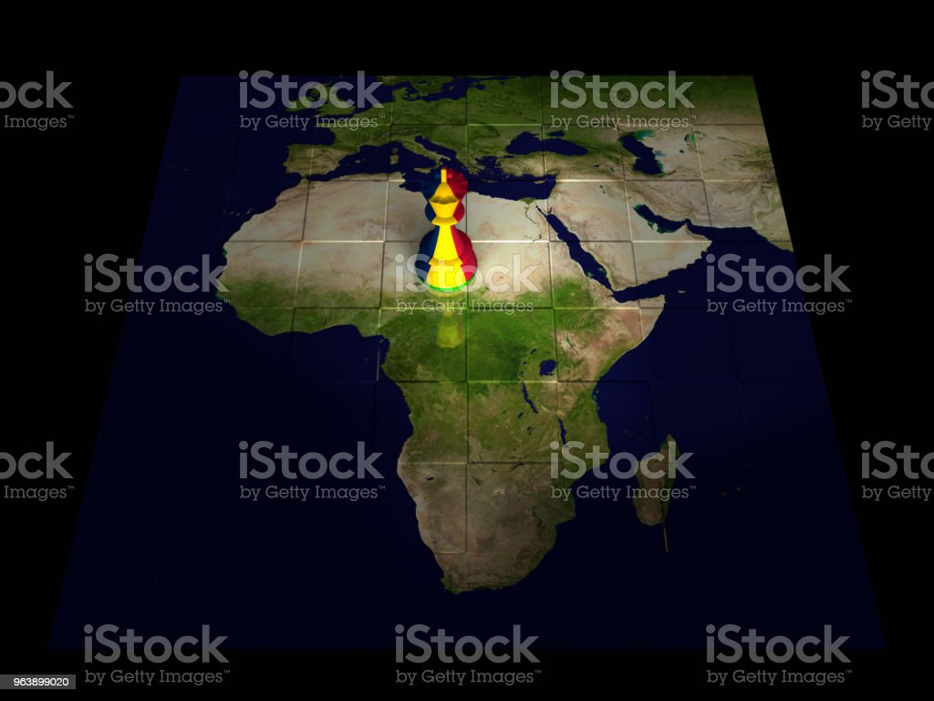 Chad Chess Map - Royalty-free Africa Stock Photo