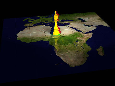 Chad Chess Map Stock Photo - Download Image Now