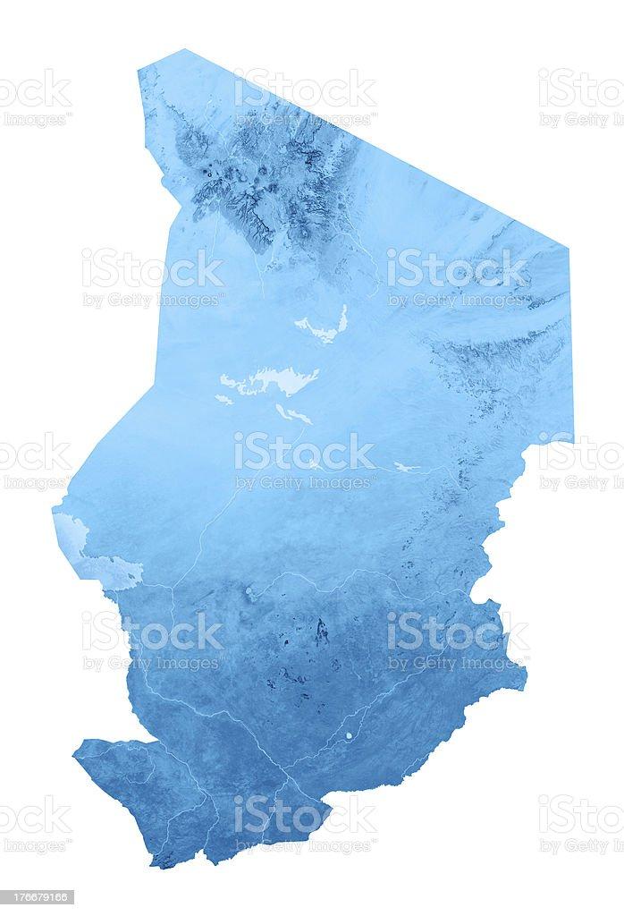 Chad Topographic mapa aislado foto de stock libre de derechos
