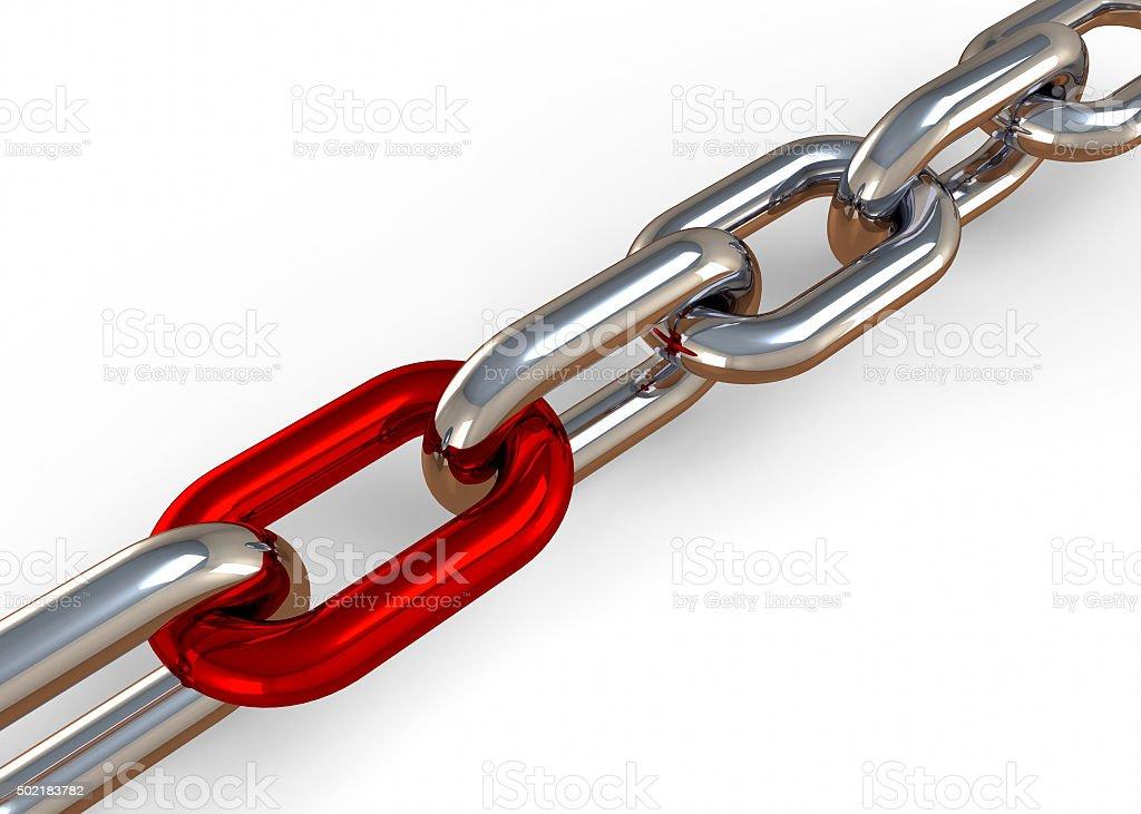 Chain - 3D stock photo