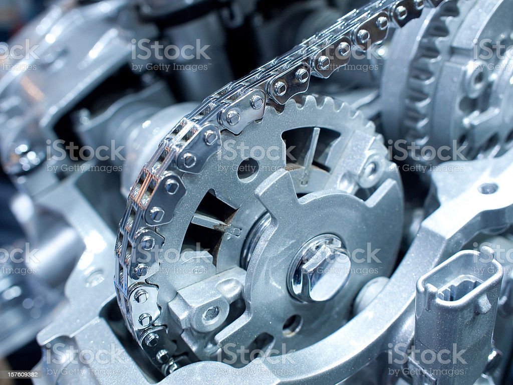 Chain and gears royalty-free stock photo