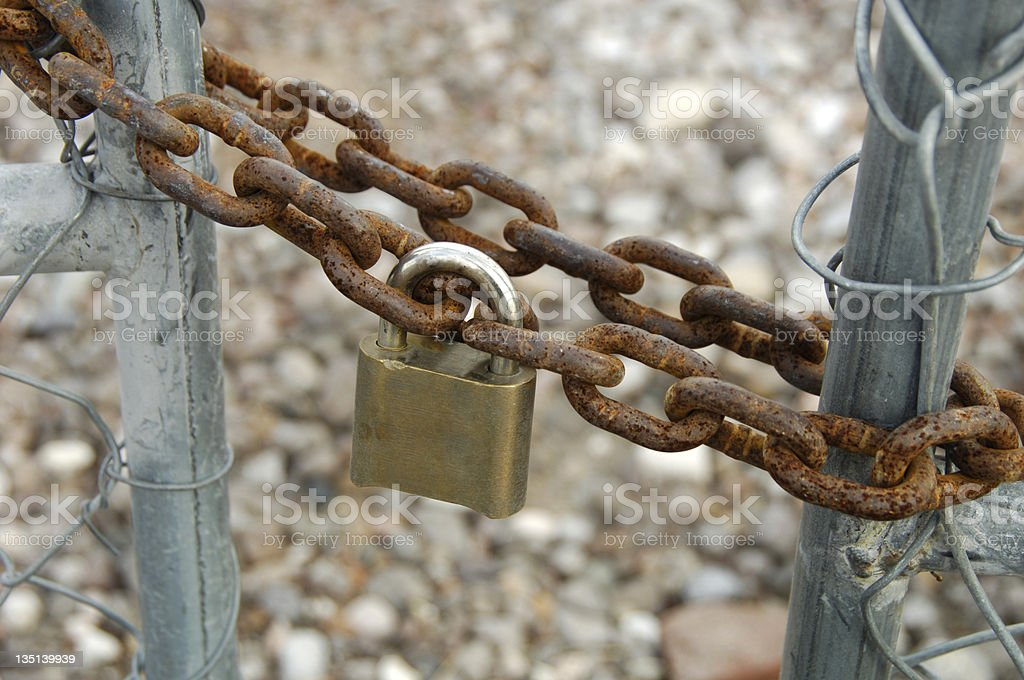 Chain and lock royalty-free stock photo