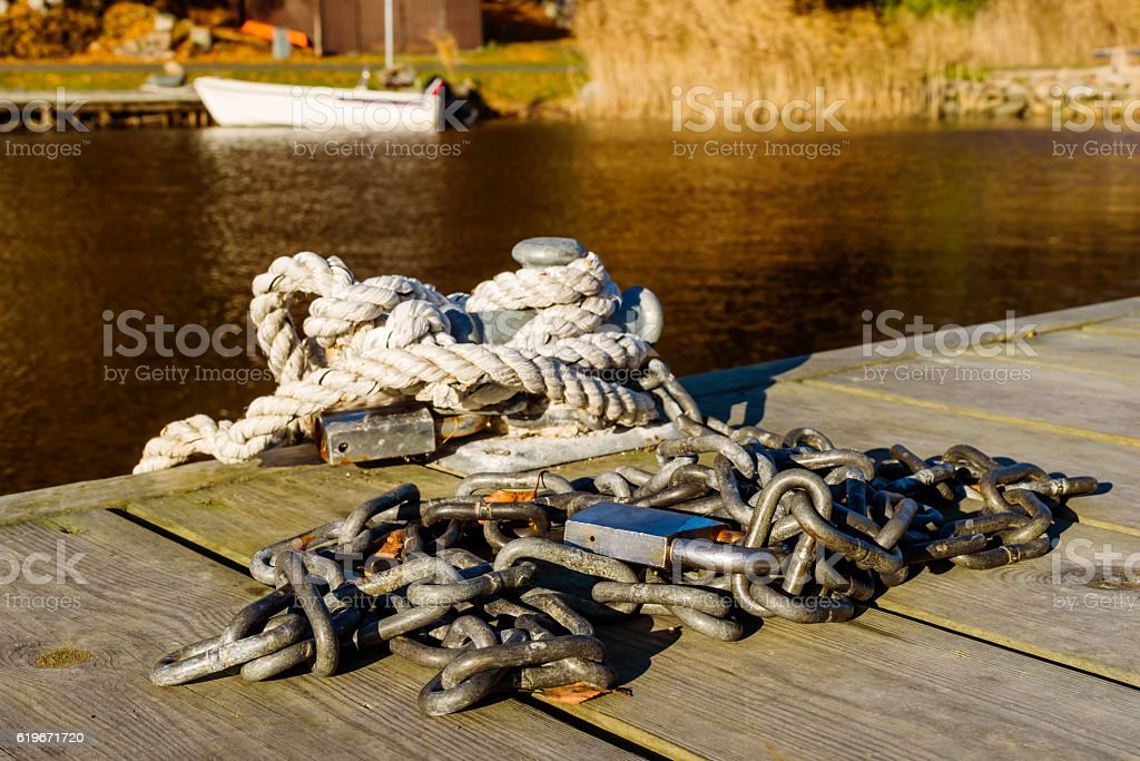 Chain and rope stock photo