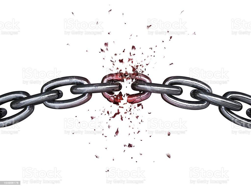 Chain breaking stock photo