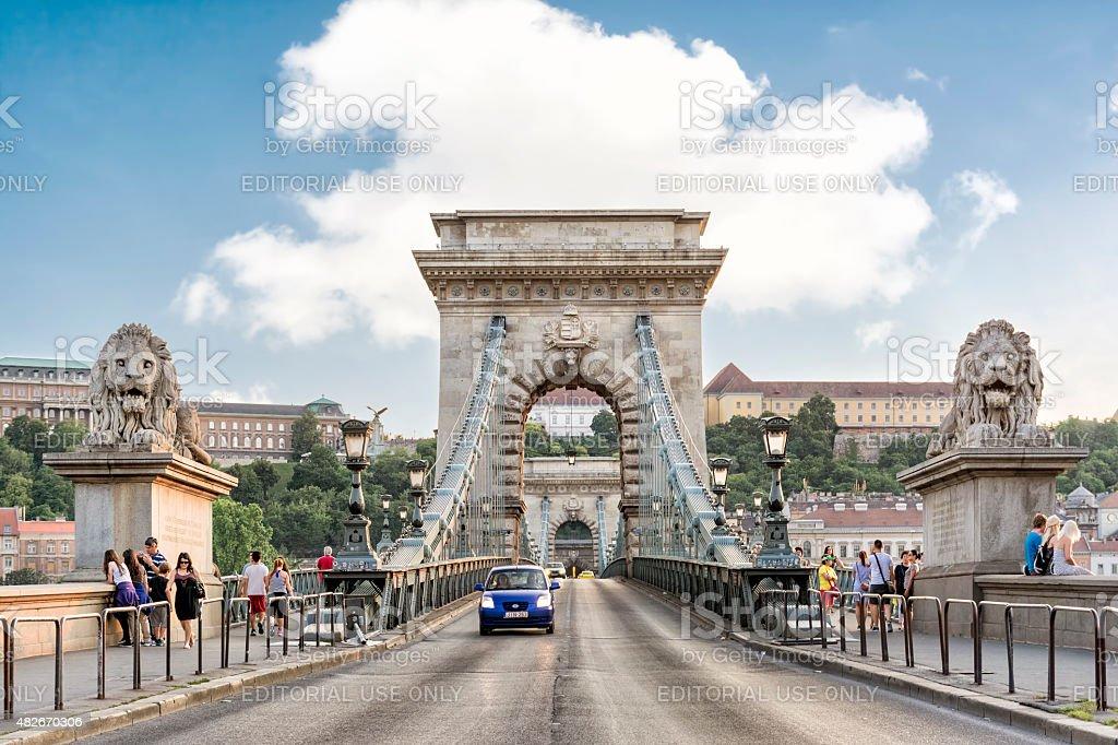 Chain Bridge, Budapest, Hungary stock photo