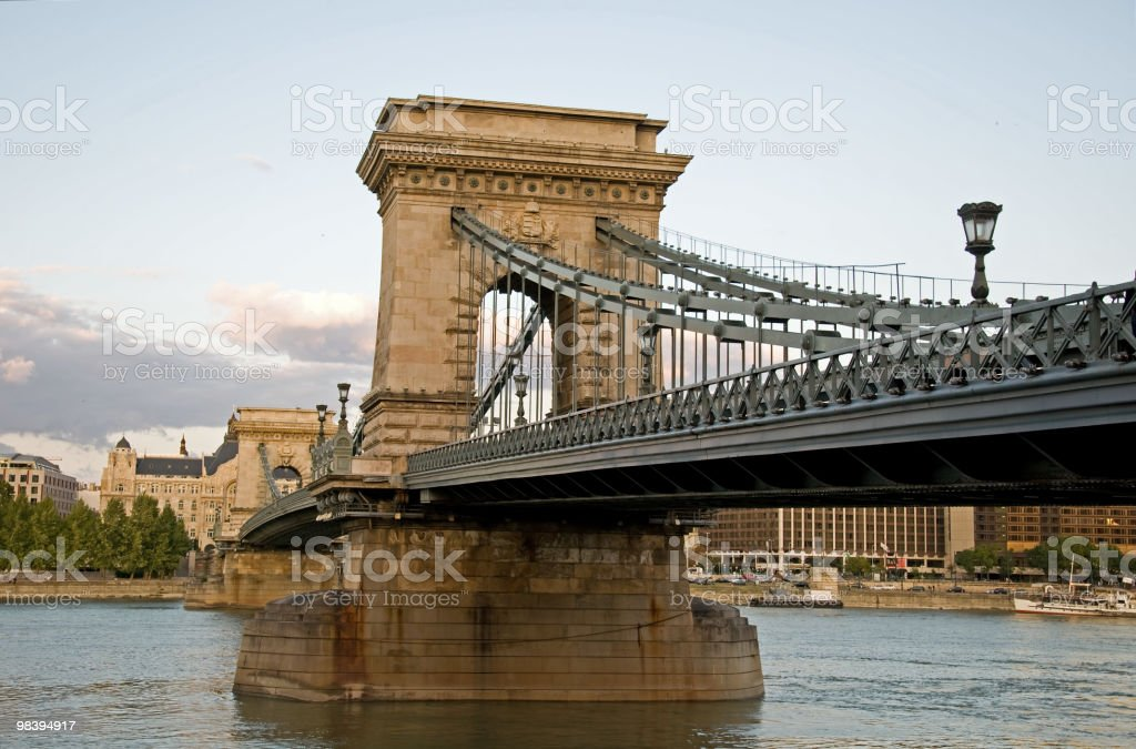 Chain Bridge, Budapest, Hungary royalty-free stock photo