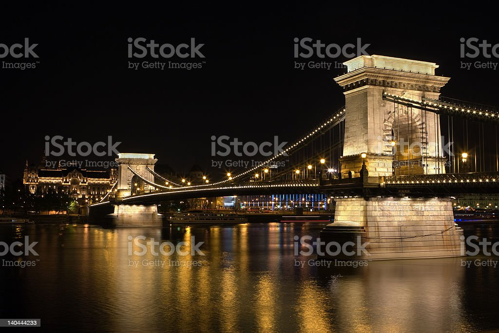 Chain Bridge Budapest royalty-free stock photo
