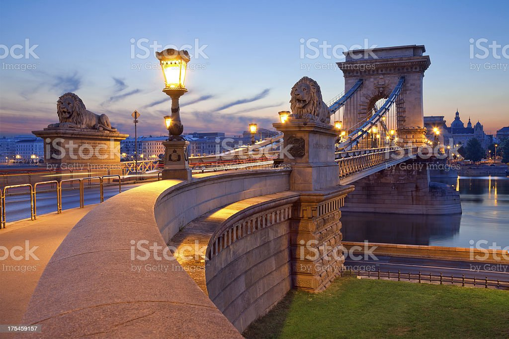 Chain Bridge, Budapest. stock photo