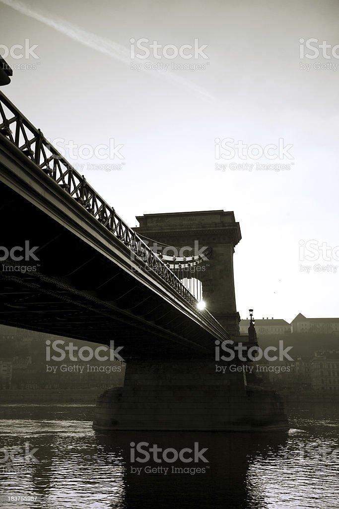 Chain Bridge, Budapest royalty-free stock photo