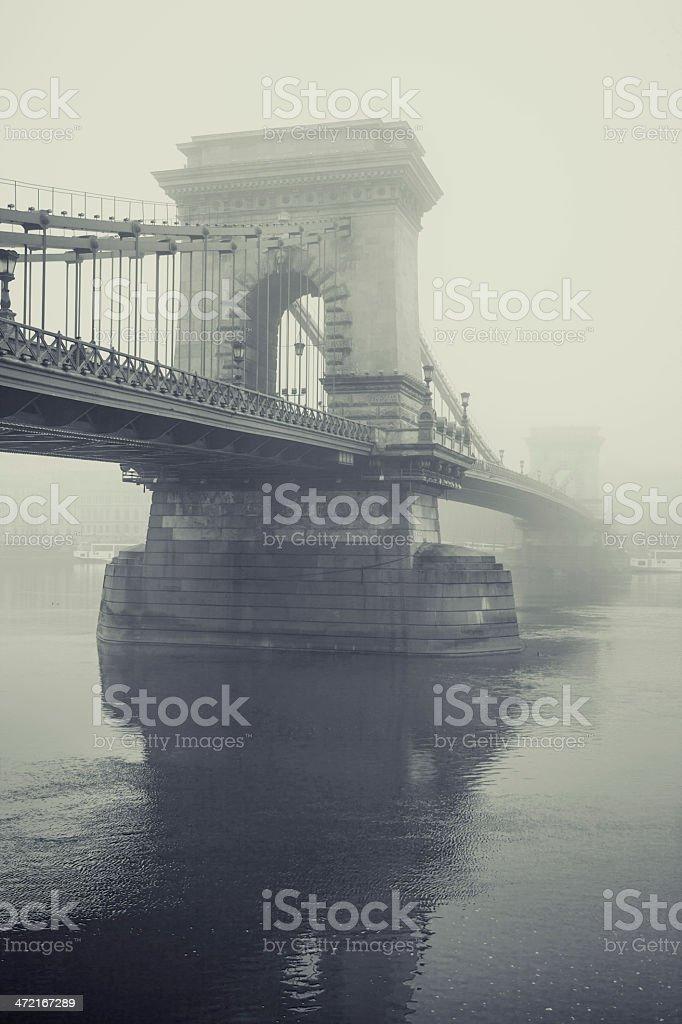 Chain bridge - Budapest royalty-free stock photo