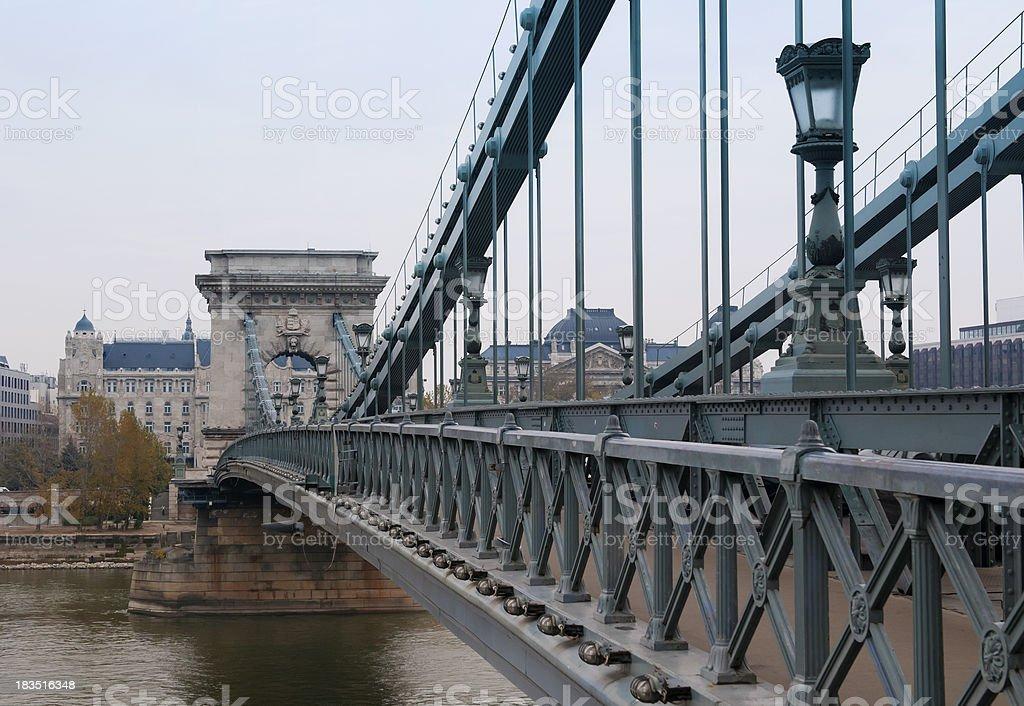 Chain Bridge in Budapest Hungary royalty-free stock photo