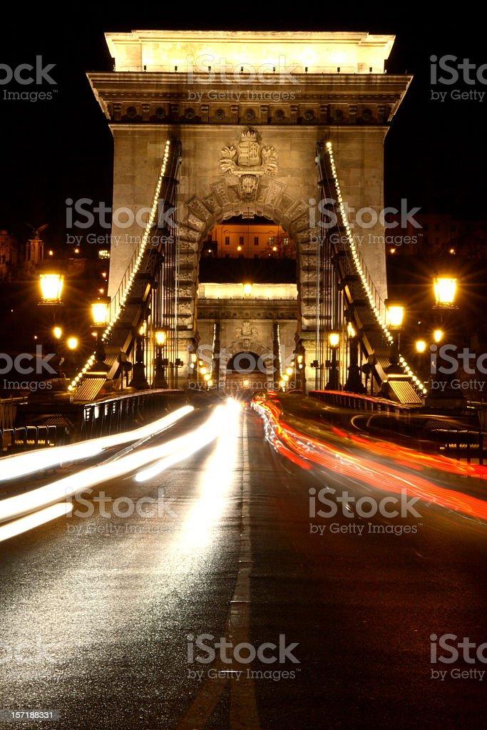 Chain Bridge in Budapest (5) royalty-free stock photo