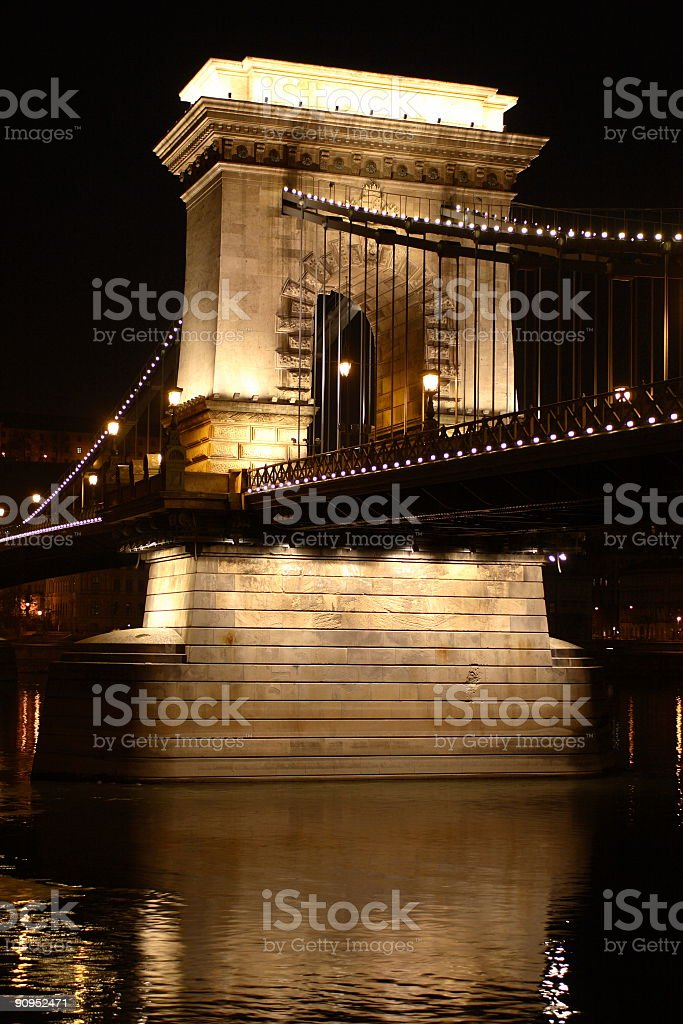 Chain Bridge in Budapest (2) royalty-free stock photo