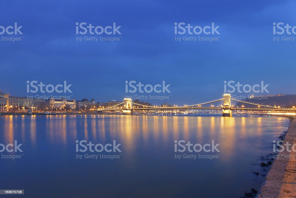 Chain Bridge of Budapest royalty-free stock photo