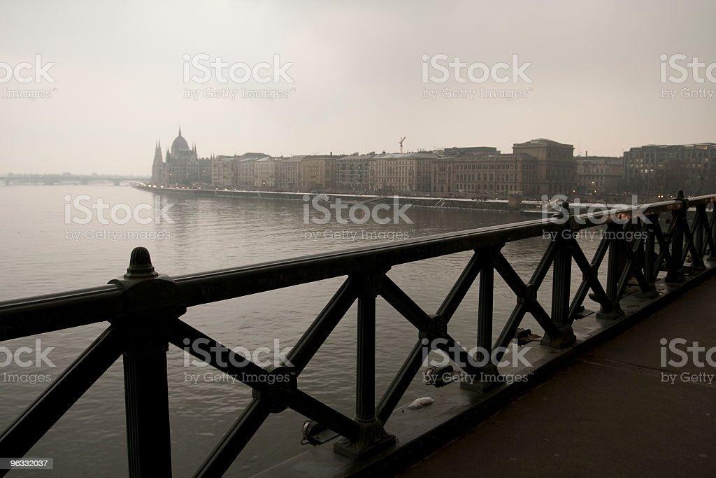 Chain Bridge royalty-free stock photo