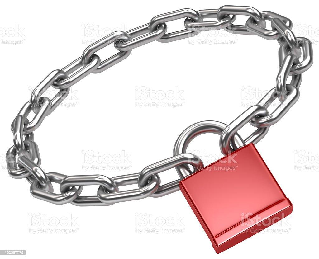 chain circle and padlock stock photo