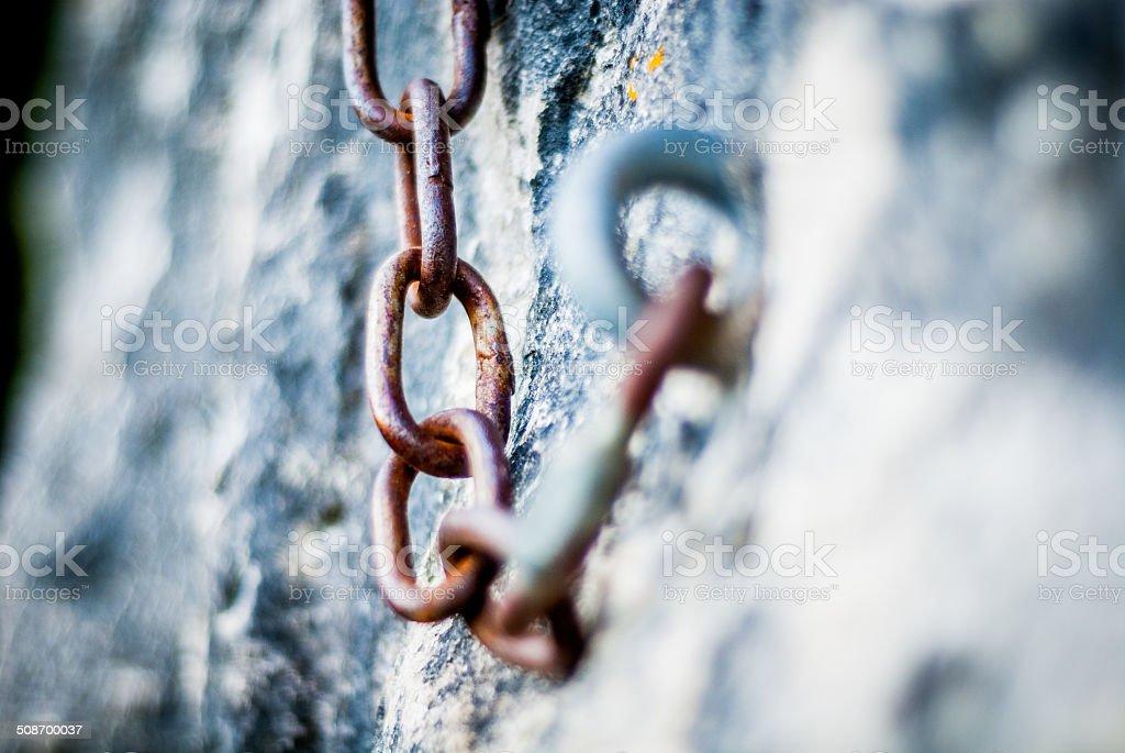 Chain, Climbing, Rock stock photo