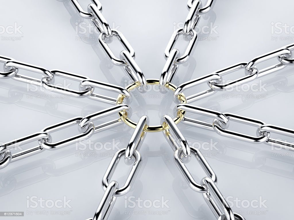 chain connection stock photo
