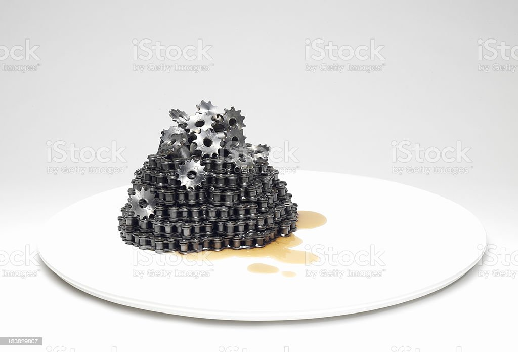 Chain fatty stock photo