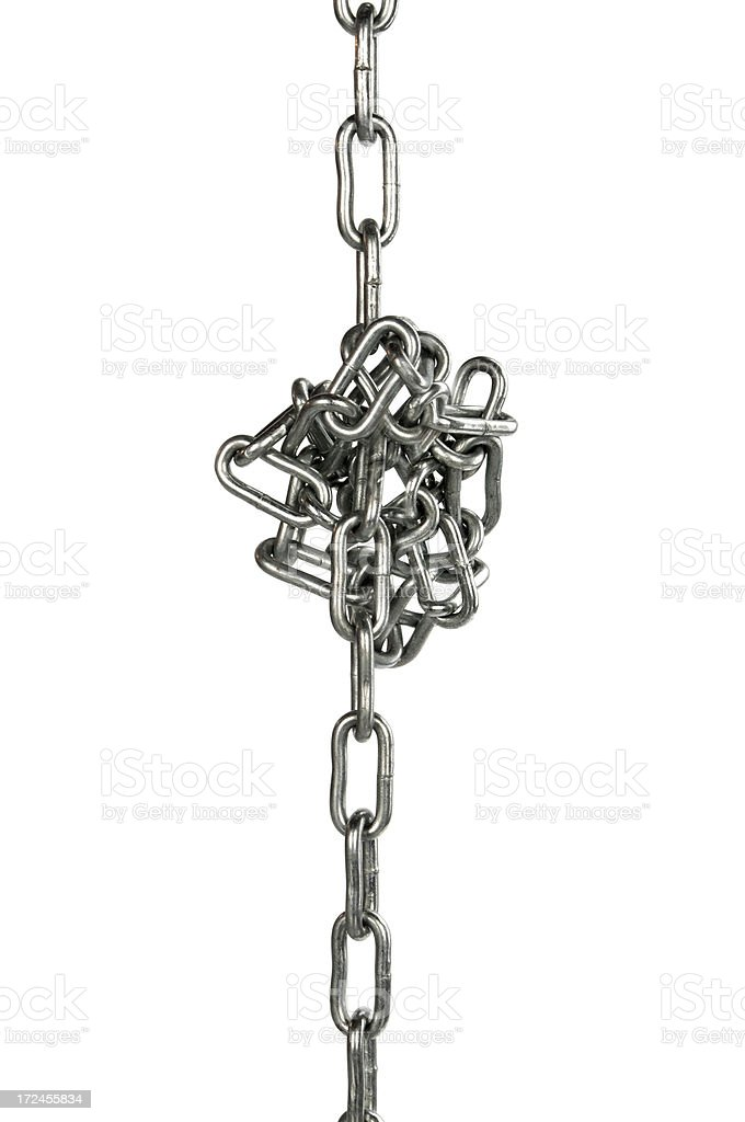 Chain, folded in a heap royalty-free stock photo