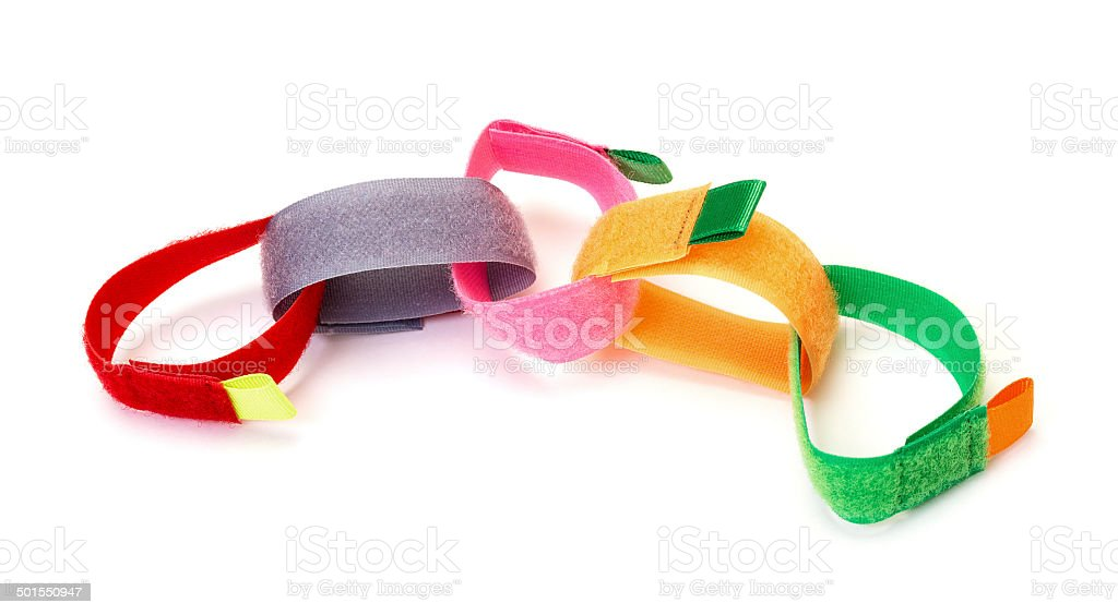 Chain from Colorful Velcro Strips stock photo