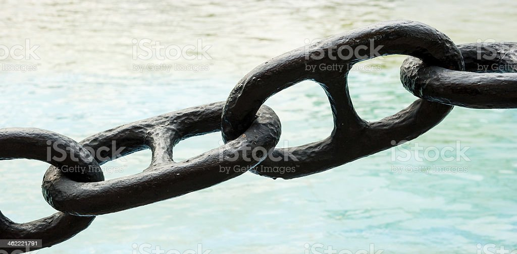 chain in a port stock photo