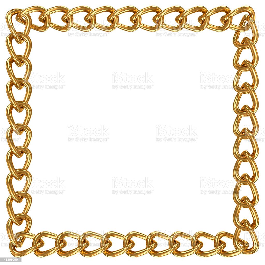 Chain in shape of square stock photo