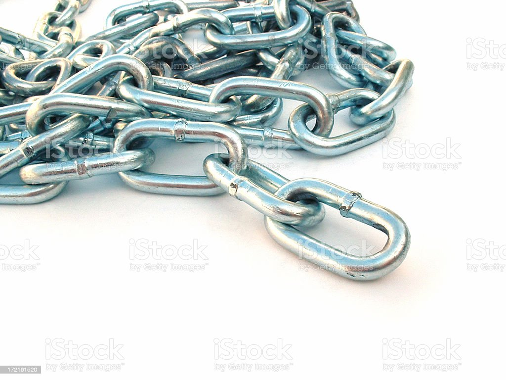 Chain Isolated on White stock photo