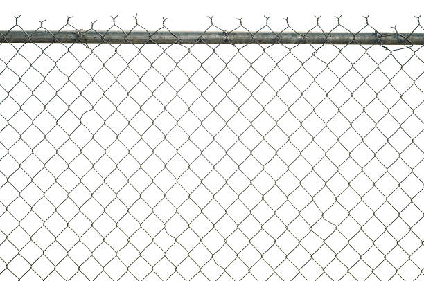 chain link fence - fence stock photos and pictures