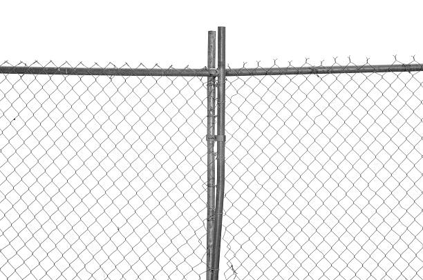 clôture chain link - grillage photos et images de collection
