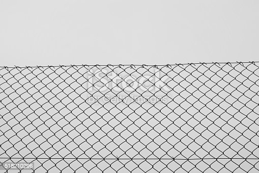Chain Link Fence Wire Netting Stock Photo & More Pictures of ...