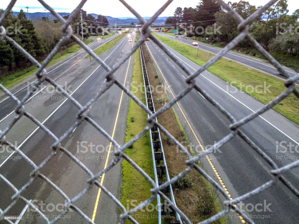 Chain link freeway stock photo more pictures of arcata