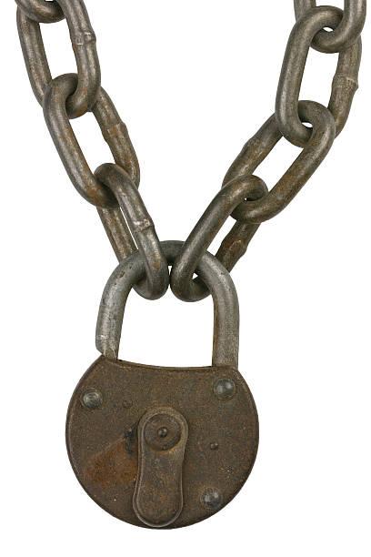 Chain Lock 1 stock photo