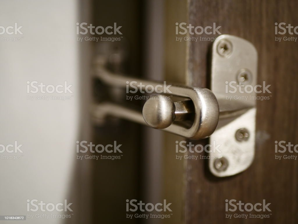 Chain Lock on White Doo stock photo