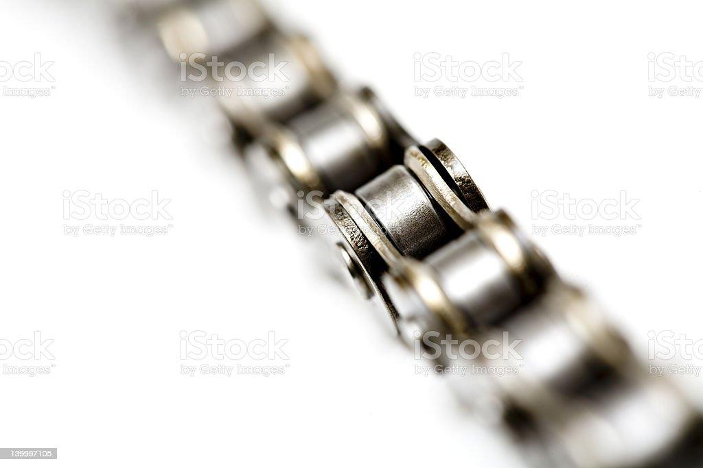 chain macro isolated stock photo